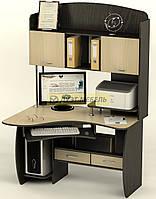 Угловой компьютерный стол с надстройкой СК-24