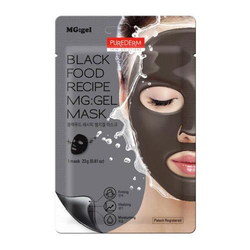 Гидрогелевая маска Purederm Black Food Recipe MG:gel Mask