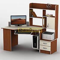 Угловой компьютерный стол с надстройкой ТИСА-2