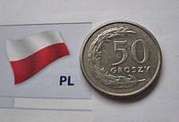 ПОЛЬША 50 грошей 1992 год - обиходная монета