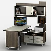 Угловой компьютерный стол с надстройкой ТИСА-30