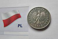 Монета 0.20 Польских злотых 2012 год
