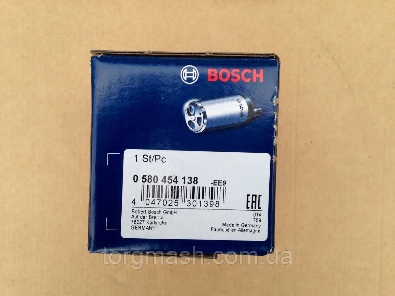НАСОС ТОПЛИВНЫЙ Bosch 0 580 454 138