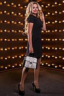 Красивое женское платье 2517 черный, фото 1