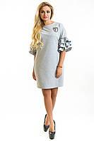 Платье женское Лейла светло-серый, фото 1