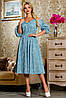 Красивое летнее молодежное платье 2265 голубой