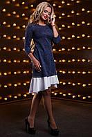 Красивое модное женское платье 2523 синий, фото 1