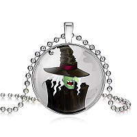 Подвес кабошон-ведьма в шляпе на Хэллоуин, фото 1