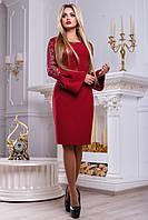 Элегантное нарядное женское платье 2465 марсала, фото 1