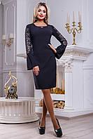 Элегантное нарядное женское платье 2467 черный, фото 1
