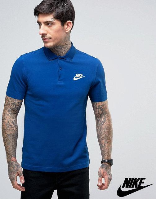 Футболка, поло, тенниска Найк Nike синяя|Качественная реплика