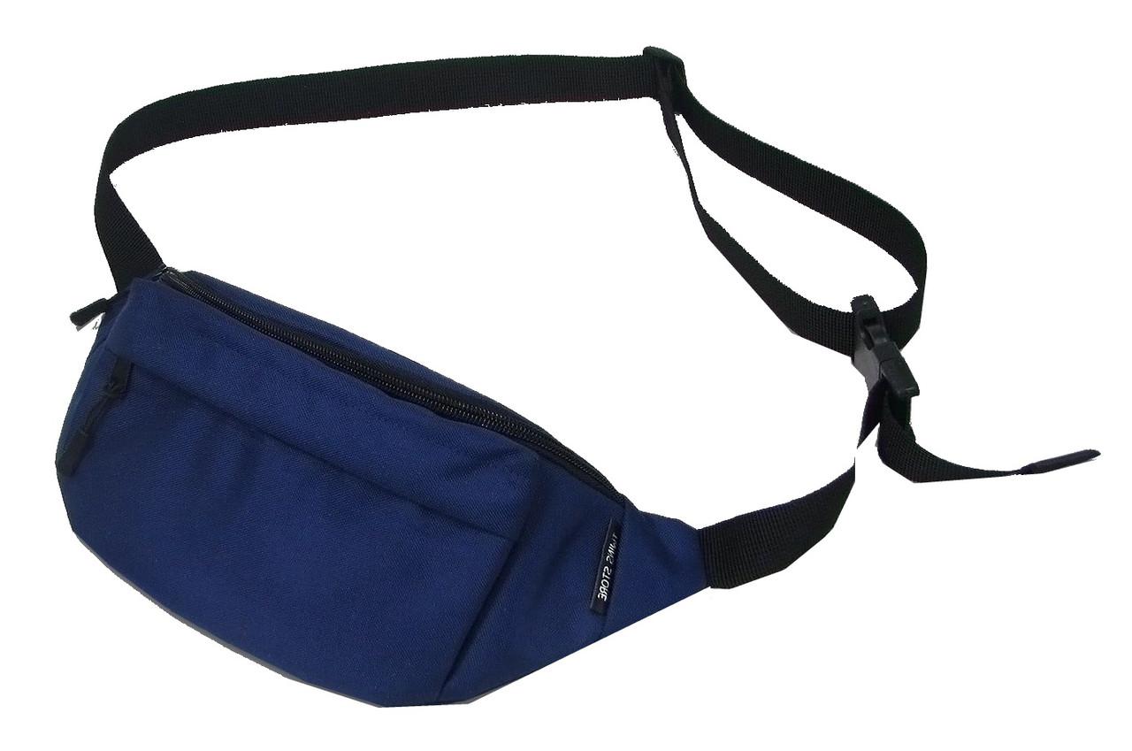 Тканевая бананка или поясная сумка TwinsStore Б56, синий