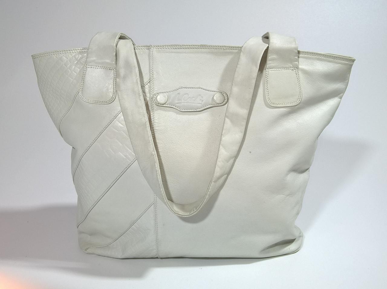 Сумка -шоппер женская из натуральной кожи бренд L.CREDI (Italy)