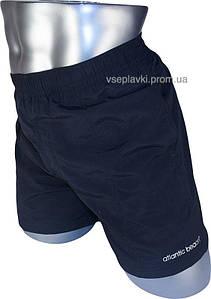 Мужские плавки шoрты для купания и пляжа Atlаntic Bеach 883Y-1 чёрный