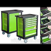 Тележка инструментальная для гаража Alloid (ТИ-7П), полки 7 штук, без инструментов, на колесах, тележка для инструментов, тележка для автоинструмента