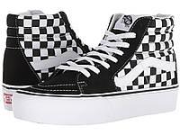 Кроссовки Кеды (Оригинал) Vans SK8-Hi Platform 2.0 Checkerboard True White 29801e9a048