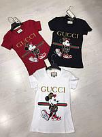 """Женская футболка """"Gucci"""" с Микки-Маусом"""