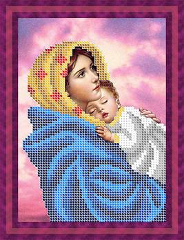 Схема для вышивки бисером картины Мадонна с младенцем (ДБч5-140)