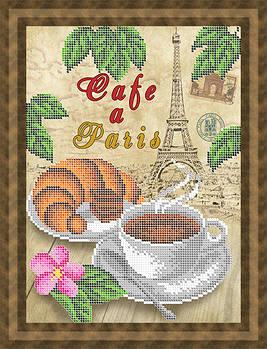Схема для вишивки бісером картини Кава у Парижі (НБч4-122)