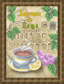 Схема для вишивки бісером картини Кава еспресо у Римі (НБч4-123)