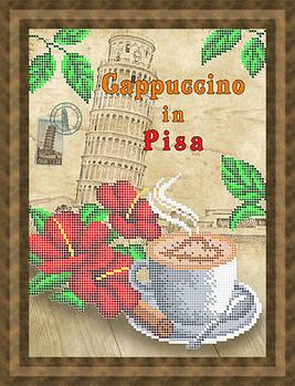 Схема для вишивки бісером картини Кава капучіно у Пізі (НБч4-124)