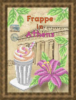 Схема для вишивки бісером картини Фрапе у Афінах (НБч4-125)