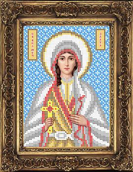 Схема для вышивки бисером иконы Злата Святая Великомученица (ИБ5-145-1)