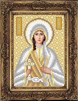 Схема для вышивки бисером иконы Злата Святая Великомученица (ИБ5-145-2)