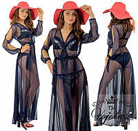 Женское платье- парео  длинное норма  028