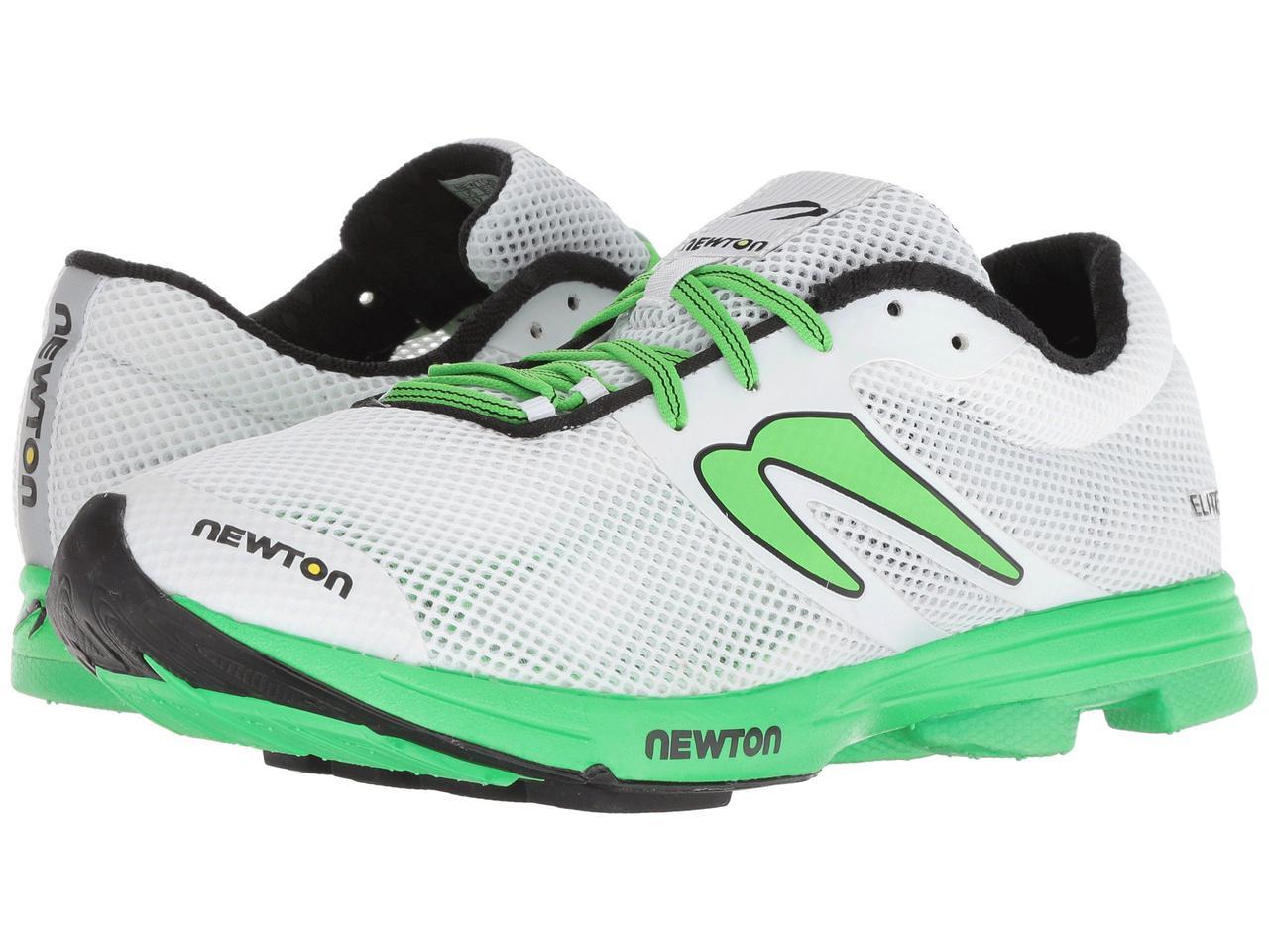 Кроссовки Кеды (Оригинал) Newton Running Distance Elite White Lime - TopUSA