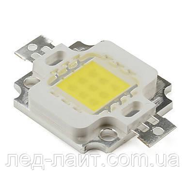 Мощный светодиод 10Ватт COB белый 10-12В 900мА