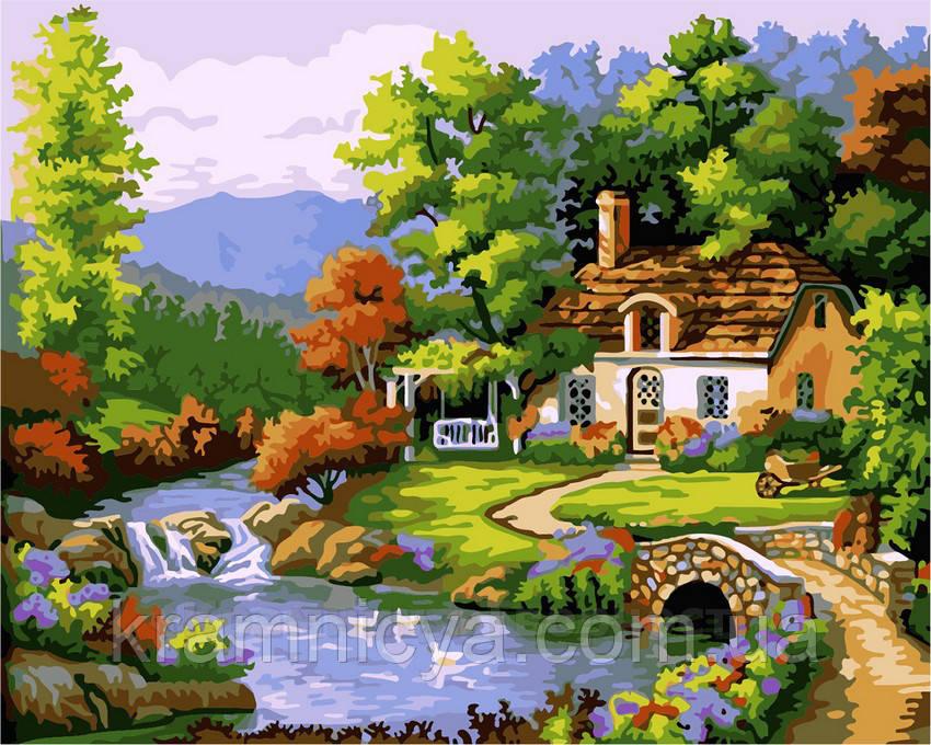 Картина по номерам 40х50 Летний домик (GX7633)