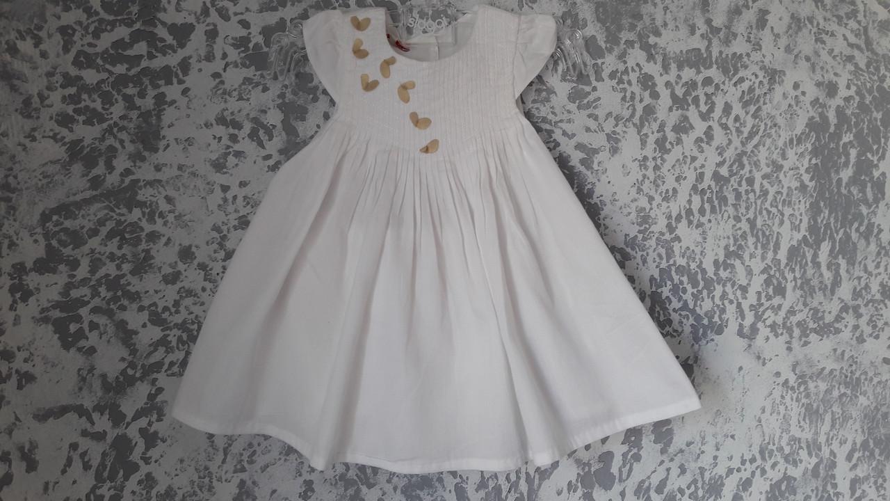 Платье хлопковое белоснежное