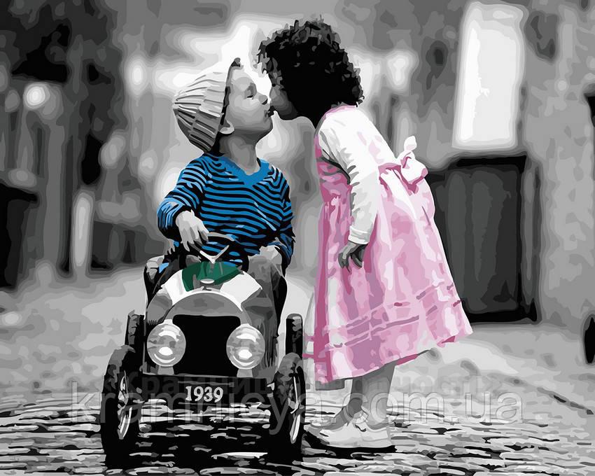 Картина по номерам 40х50 Первый поцелуй (GX22639)