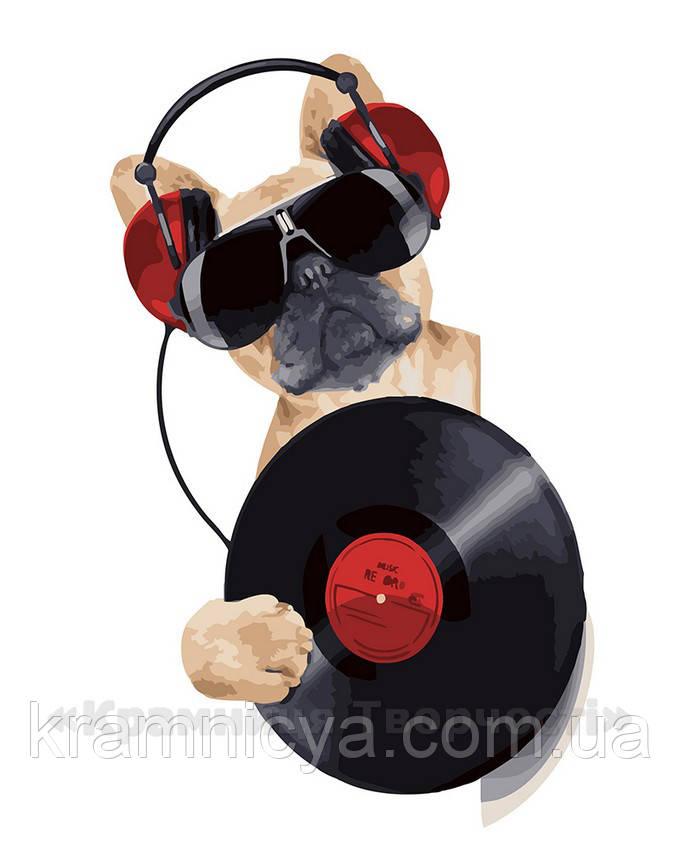 Картина по номерам 40х50 DJ Пёс (GX22691)
