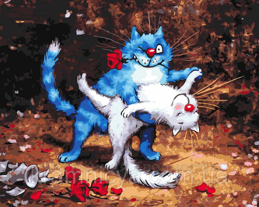 Картина по номерам 40х50 Кошачье танго (GX22934)