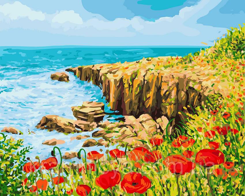 Картина по номерам 40х50 Скалистый берег (GX22954)
