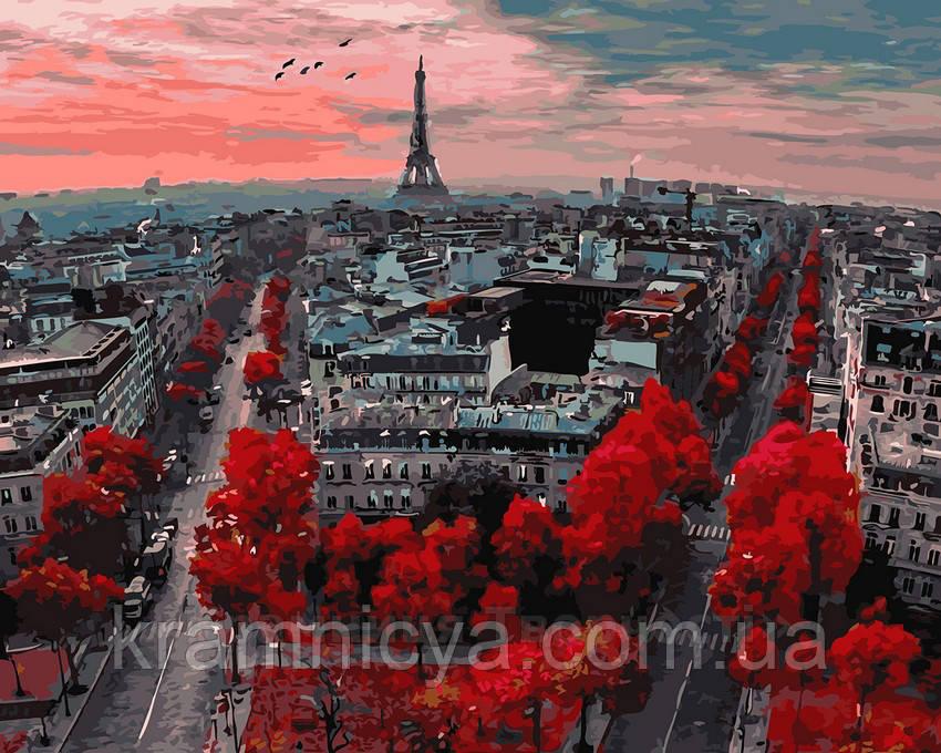 Картина по номерам 40х50 Алые краски Парижа (GX4887)
