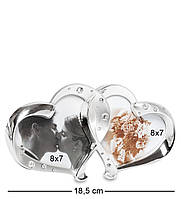 Фоторамка Влюблённые сердца на 2 фото CHK-014