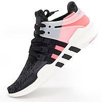 Кроссовки Adidas Equipment Support (EQT) черные с розовым. Топ качество! - Реплика р.(39, 40, 41, 42, 44)