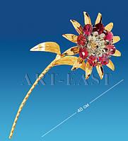 "Фигурка ""Цветок"" 11x9x40 см., с цвет. крист. Crystal Temptations, США"