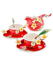Фарфоровый чайный набор ''Франжипан'' на 2 персоны (Pavone) FM-40/4