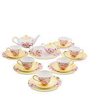 Чайный сервиз из костяного фарфора на 6 персоны ''Пионы'' (Torino Peony Pavone) JK-83