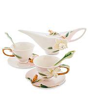 Фарфоровый чайный набор ''Гардения'' на 2 персоны (Pavone) FM-40/1