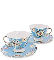 "Чайный набор на 2 персоны ""Антонелла"" голуб AS-45"