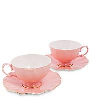 """Чайный набор на 2 персоны """"Грациозо Россо"""" розовый AS-37"""