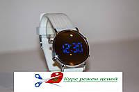Часы наручные Led Watch Mirror Силиконовый ремешок + Зеркало