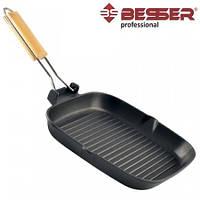 Сковорода-гриль 24х24 с антипригарным покрытием Besser