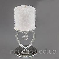 Свадебная свеча Бисер 10 см 014Q