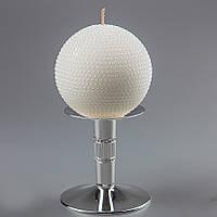 Свадебная свеча Снежный шар 10 см 034Q